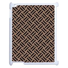 Woven2 Black Marble & Brown Colored Pencil (r) Apple Ipad 2 Case (white) by trendistuff