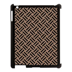 Woven2 Black Marble & Brown Colored Pencil (r) Apple Ipad 3/4 Case (black) by trendistuff