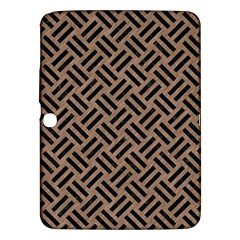 Woven2 Black Marble & Brown Colored Pencil (r) Samsung Galaxy Tab 3 (10 1 ) P5200 Hardshell Case  by trendistuff