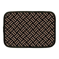 Woven2 Black Marble & Brown Colored Pencil Netbook Case (medium) by trendistuff