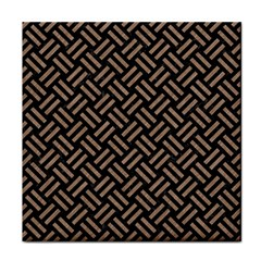 Woven2 Black Marble & Brown Colored Pencil Face Towel by trendistuff