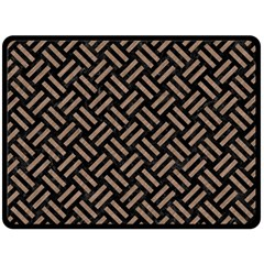 Woven2 Black Marble & Brown Colored Pencil Fleece Blanket (large) by trendistuff