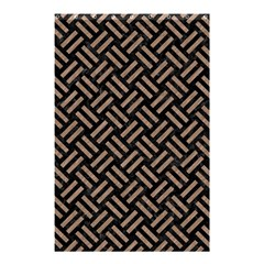Woven2 Black Marble & Brown Colored Pencil Shower Curtain 48  X 72  (small) by trendistuff