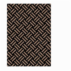 Woven2 Black Marble & Brown Colored Pencil Large Garden Flag (two Sides) by trendistuff