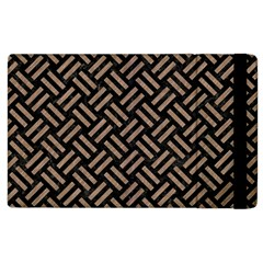 Woven2 Black Marble & Brown Colored Pencil Apple Ipad 3/4 Flip Case by trendistuff