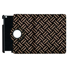 Woven2 Black Marble & Brown Colored Pencil Apple Ipad 3/4 Flip 360 Case by trendistuff