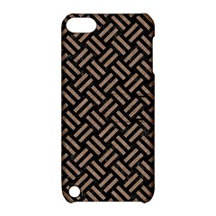 Woven2 Black Marble & Brown Colored Pencil Apple Ipod Touch 5 Hardshell Case With Stand by trendistuff