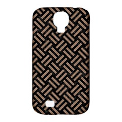 Woven2 Black Marble & Brown Colored Pencil Samsung Galaxy S4 Classic Hardshell Case (pc+silicone) by trendistuff