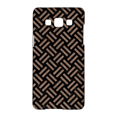 Woven2 Black Marble & Brown Colored Pencil Samsung Galaxy A5 Hardshell Case  by trendistuff