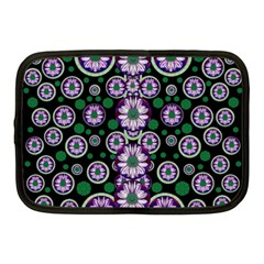 Fantasy Flower Forest  In Peacock Jungle Wood Netbook Case (medium)  by pepitasart
