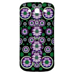 Fantasy Flower Forest  In Peacock Jungle Wood Samsung Galaxy S3 S Iii Classic Hardshell Back Case by pepitasart