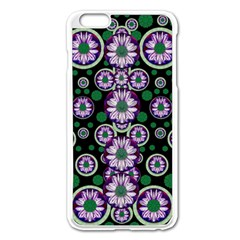 Fantasy Flower Forest  In Peacock Jungle Wood Apple Iphone 6 Plus/6s Plus Enamel White Case by pepitasart