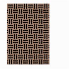 Woven1 Black Marble & Brown Colored Pencil (r) Large Garden Flag (two Sides) by trendistuff
