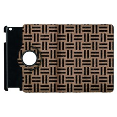 Woven1 Black Marble & Brown Colored Pencil (r) Apple Ipad 3/4 Flip 360 Case by trendistuff