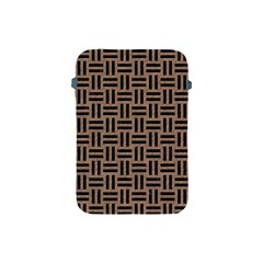 Woven1 Black Marble & Brown Colored Pencil (r) Apple Ipad Mini Protective Soft Case by trendistuff