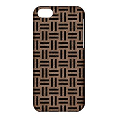 Woven1 Black Marble & Brown Colored Pencil (r) Apple Iphone 5c Hardshell Case by trendistuff