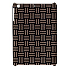 Woven1 Black Marble & Brown Colored Pencil Apple Ipad Mini Hardshell Case by trendistuff