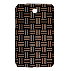 Woven1 Black Marble & Brown Colored Pencil Samsung Galaxy Tab 3 (7 ) P3200 Hardshell Case  by trendistuff