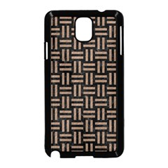 Woven1 Black Marble & Brown Colored Pencil Samsung Galaxy Note 3 Neo Hardshell Case (black) by trendistuff