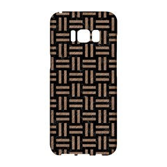 Woven1 Black Marble & Brown Colored Pencil Samsung Galaxy S8 Hardshell Case  by trendistuff