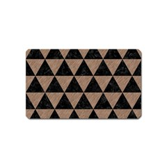 Triangle3 Black Marble & Brown Colored Pencil Magnet (name Card) by trendistuff