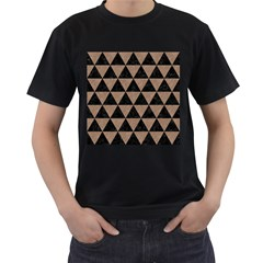 Triangle3 Black Marble & Brown Colored Pencil Men s T Shirt (black) by trendistuff