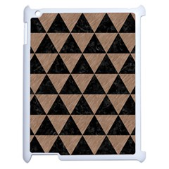 Triangle3 Black Marble & Brown Colored Pencil Apple Ipad 2 Case (white) by trendistuff