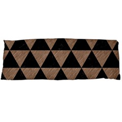 Triangle3 Black Marble & Brown Colored Pencil Body Pillow Case Dakimakura (two Sides) by trendistuff