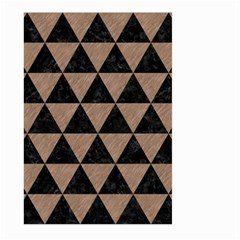 Triangle3 Black Marble & Brown Colored Pencil Large Garden Flag (two Sides) by trendistuff