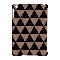 Triangle3 Black Marble & Brown Colored Pencil Apple Ipad Mini Hardshell Case (compatible With Smart Cover) by trendistuff
