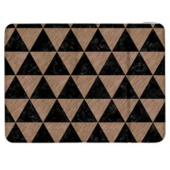 Triangle3 Black Marble & Brown Colored Pencil Samsung Galaxy Tab 7  P1000 Flip Case by trendistuff
