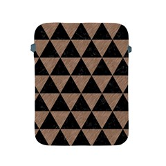 Triangle3 Black Marble & Brown Colored Pencil Apple Ipad 2/3/4 Protective Soft Case by trendistuff