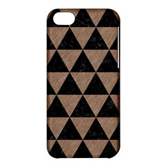 Triangle3 Black Marble & Brown Colored Pencil Apple Iphone 5c Hardshell Case by trendistuff