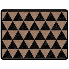 Triangle3 Black Marble & Brown Colored Pencil Double Sided Fleece Blanket (large) by trendistuff