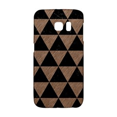 Triangle3 Black Marble & Brown Colored Pencil Samsung Galaxy S6 Edge Hardshell Case by trendistuff