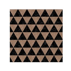 Triangle3 Black Marble & Brown Colored Pencil Small Satin Scarf (square) by trendistuff