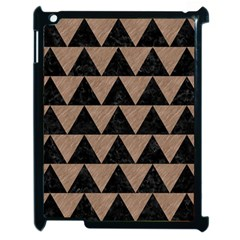 Triangle2 Black Marble & Brown Colored Pencil Apple Ipad 2 Case (black) by trendistuff