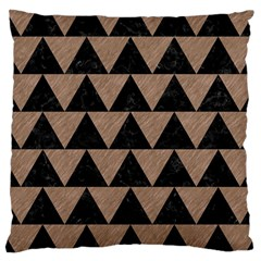 Triangle2 Black Marble & Brown Colored Pencil Large Cushion Case (two Sides) by trendistuff