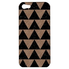 Triangle2 Black Marble & Brown Colored Pencil Apple Iphone 5 Hardshell Case by trendistuff
