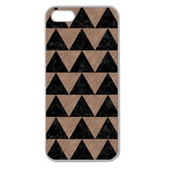 Triangle2 Black Marble & Brown Colored Pencil Apple Seamless Iphone 5 Case (clear) by trendistuff