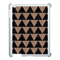 Triangle2 Black Marble & Brown Colored Pencil Apple Ipad 3/4 Case (white) by trendistuff