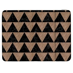 Triangle2 Black Marble & Brown Colored Pencil Samsung Galaxy Tab 7  P1000 Flip Case by trendistuff