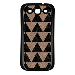 Triangle2 Black Marble & Brown Colored Pencil Samsung Galaxy S3 Back Case (black) by trendistuff