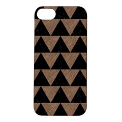 Triangle2 Black Marble & Brown Colored Pencil Apple Iphone 5s/ Se Hardshell Case by trendistuff