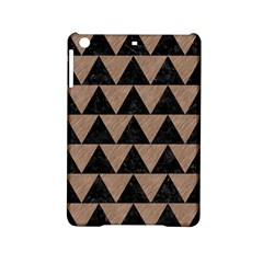 Triangle2 Black Marble & Brown Colored Pencil Apple Ipad Mini 2 Hardshell Case by trendistuff