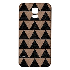 Triangle2 Black Marble & Brown Colored Pencil Samsung Galaxy S5 Back Case (white) by trendistuff