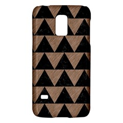 Triangle2 Black Marble & Brown Colored Pencil Samsung Galaxy S5 Mini Hardshell Case  by trendistuff