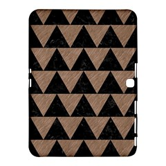 Triangle2 Black Marble & Brown Colored Pencil Samsung Galaxy Tab 4 (10 1 ) Hardshell Case  by trendistuff
