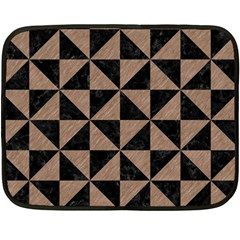 Triangle1 Black Marble & Brown Colored Pencil Double Sided Fleece Blanket (mini) by trendistuff