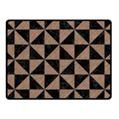 Triangle1 Black Marble & Brown Colored Pencil Fleece Blanket (small) by trendistuff